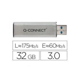 Q-Connect Silver/Black USB 3.0 Slider 32Gb Flash Drive 43202005 KF16370