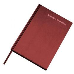 Cheap Stationery Supply of Condiary A5 2013/2014 Academic Diary Day to a Page Burgundy KF1A5ABG13 Office Statationery