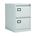 Jemini 2 Drawer Filing Cabinet Lockable 470x622x711mm Light Grey KF20042