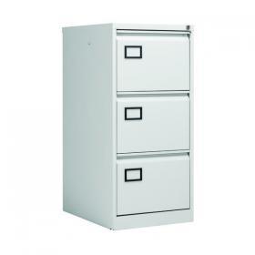 Jemini 3 Drawer Filing Cabinet 470x622x1016mm Light Grey KF20043