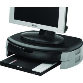 Q-Connect Monitor/Printer Stand Black/Grey KF20081