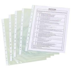 Cheap Stationery Supply of Q-Connect Punched Pockets Polypropylene 50 Micron A4 Clear (Pack of 100) KF24001 Office Statationery