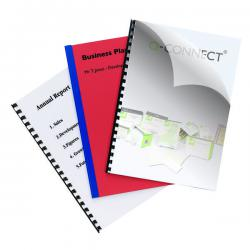Cheap Stationery Supply of Q-Connect Clear A4 PVC Binding Covers 150 Micron (Pack of 250) KF24010 Office Statationery