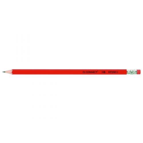 Q-Connect HB Rubber Tipped Pencil KF25011 Pack of 12