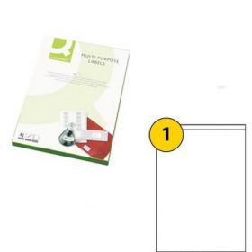 Q-Connect Multipurpose Labels 199.6x289mm 1 Per Sheet White (Pack of 100) KF26050