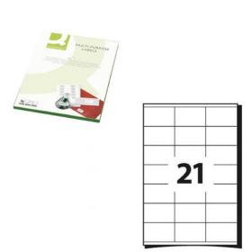Q-Connect Multipurpose Labels 63.5x38mm 21 Per Sheet White (Pack of 2100) KF26051