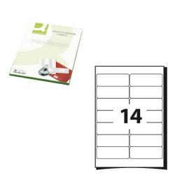 Cheap Stationery Supply of Q-Connect Multipurpose Labels 99.1x38.1mm 14 Per Sheet White (Pack of 1400) KF26054 Office Statationery