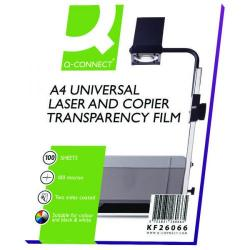 Cheap Stationery Supply of Q-Connect Clear Over Head Projector Film (Pack of 100) KF26066 Office Statationery