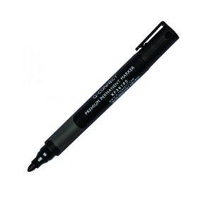 Q-Connect Premium Permanent Marker Pen Bullet Tip Black (Pack of 10) KF26105