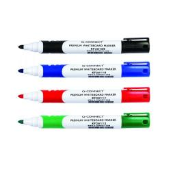 Cheap Stationery Supply of Q-Connect Premium Whiteboard Marker Bullet Tip Assorted (Pack of 4) KF26113 Office Statationery