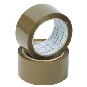 Q-Connect Polypropylene Packaging Tape 50mmx66m Brown (Pack of 6) KF27010