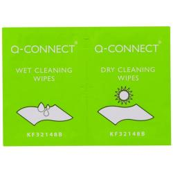 Cheap Stationery Supply of Q-Connect Wet and Dry Wipes (Pack of 20) KF32148 Office Statationery