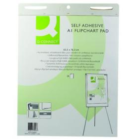 Q-Connect Self-Adhesive Flipchart Pad A1 30 Sheet (Pack of 2) KF37003