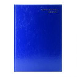 Cheap Stationery Supply of Academic Diary Week to View A4 Blue 2020-21 KF3A4ABU21 Office Statationery