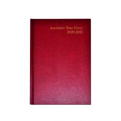 Cheap Stationery Supply of Academic Diary Week to View A5 Burgundy 2020-21 KF3A5ABG21 Office Statationery