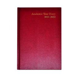 Cheap Stationery Supply of Academic Diary Week To View A5 Burgundy 2021-22 KF3A5ABG21 Office Statationery