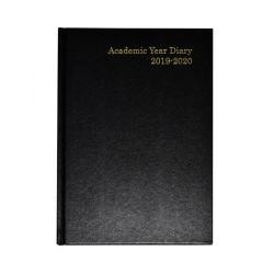Cheap Stationery Supply of Academic Diary A5 Week to View 2019-20 Black KF3A5ABK19 Office Statationery