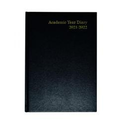 Cheap Stationery Supply of Academic Diary Week To View A5 Black 2021-22 KF3A5ABK21 Office Statationery