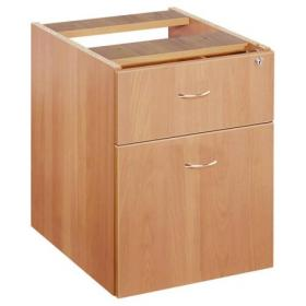 Jemini Beech 2 Drawer Fixed Pedestal KF72075