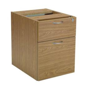Jemini Oak 2 Drawer Fixed Pedestal KF72076
