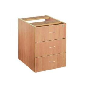 Jemini Beech 3 Drawer Fixed Pedestal KF72078