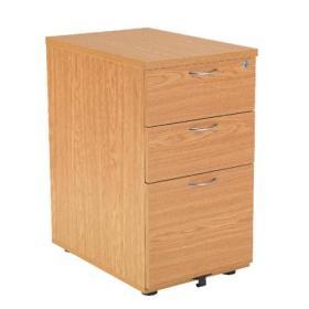 Jemini Oak 3 Drawer Under Desk Pedestal KF72088