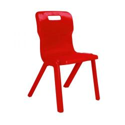 Cheap Stationery Supply of Titan One Piece Chair 310mm Red KF72154 Office Statationery