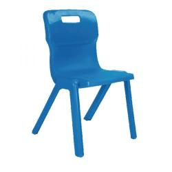 Cheap Stationery Supply of Titan One Piece Chair 310mm Blue KF72155 Office Statationery