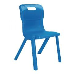 Cheap Stationery Supply of Titan One Piece Chair 350mm Blue KF72160 Office Statationery