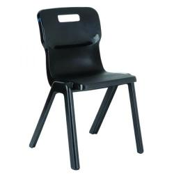 Cheap Stationery Supply of Titan One Piece Chair 350mm Charcoal KF72162 Office Statationery