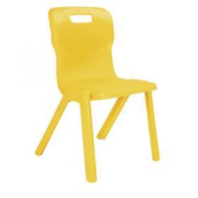 Titan One Piece Chair 350mm Yellow KF72163