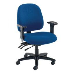 Cheap Stationery Supply of Avior Snowdon Heavy Duty Medium Back Chair With Lumbar Support Blue KF72251 Office Statationery