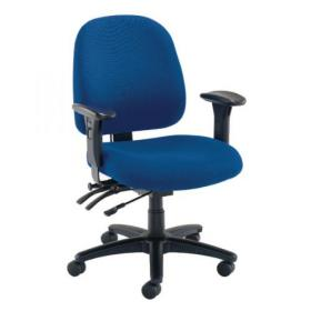 Avior Snowdon Heavy Duty Medium Back Chair With Lumbar Support Blue KF72251