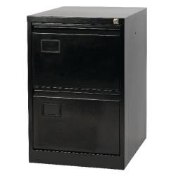 Cheap Stationery Supply of Jemini 2 Drawer Filing Cabinet Black KF72585 Office Statationery