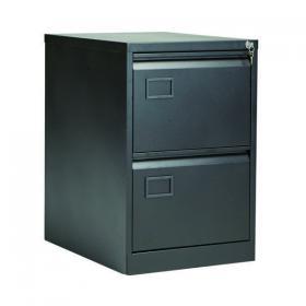 Jemini 2 Drawer Filing Cabinet Lockable 470x622x711mm Black KF72585