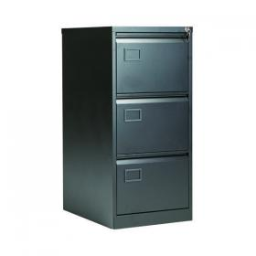 Jemini 3 Drawer Filing Cabinet 470x622x1016mm Black KF72586