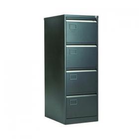 Jemini 4 Drawer Filing Cabinet Lockable 470x622x1321mm Black KF72587