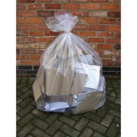 2Work Wheelie Bin Liner Clear (Pack of 100) KF73374