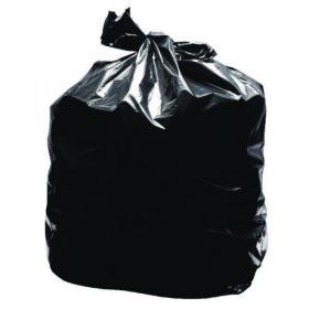 2Work Light Duty Refuse Sack Black (Pack of 200) KF73375