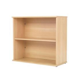 Serrion 800mm Ferrera Oak Desk High Bookcase KF74131