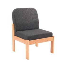 Arista Charcoal Reception Seat Beech Veneer Frame KF74201