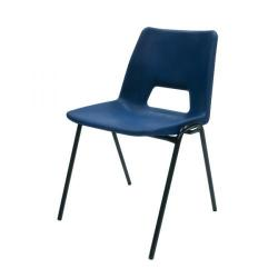 Cheap Stationery Supply of Jemini Polypropylene Stacking Blue Chair (Suitable for both indoor and outdoor use) KF74958 Office Statationery