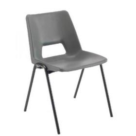Jemini Polypropylene Stacking Chair Charcoal KF74959