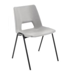 Jemini Polypropylene Stacking Chair Grey (Suitable for indoor and outdoor use) KF74960