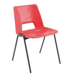 Cheap Stationery Supply of Jemini Polypropylene Stacking Chair Red KF74961 Office Statationery