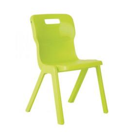 Titan One Piece Chair 350mm Lime (Pack of 10) KF78558