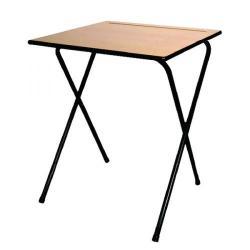 Cheap Stationery Supply of Titan Folding Exam Desk MDF Edge 600x600x720mm Beech KF78654 Office Statationery
