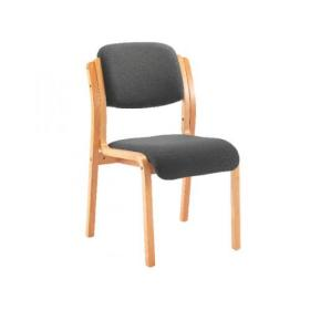 Jemini Charcoal Wood Frame Side Chair KF78680
