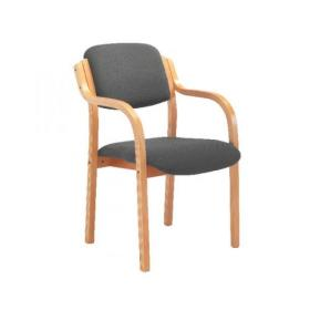 Jemini Charcoal Wood Frame Arm Chair KF78681