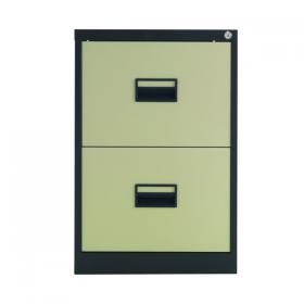 Talos 2 Drawer Filing Cabinet 465x620x700mm Coffee Cream KF78763